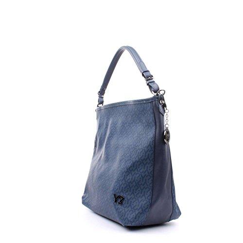 Ynot? Y-009 Borsa A Spalla Donna Bianco/Blu