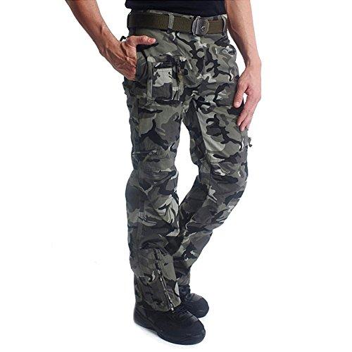 MAGCOMSEN Cargohose Männer Mehrfache Tasche Tarnung Baumwolle Arbeitshosen Kampf Hose 38