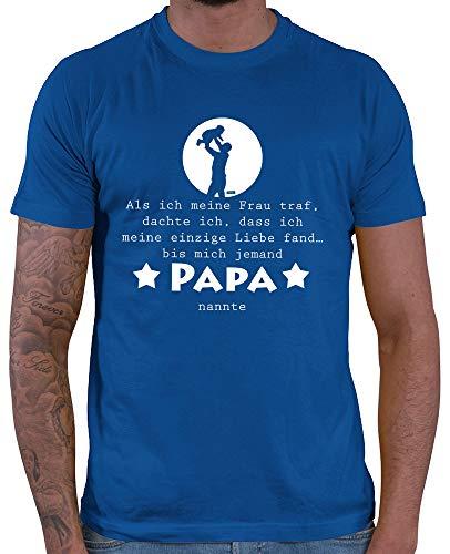 HARIZ  Herren T-Shirt Bis Mich Jemand Papa Nannte Kinder Vater Baby Weihnachten Plus Geschenkkarten Royal Blau S -