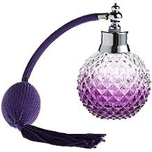 PIXNOR 100ml vacío recambio Spray botella atomizador de Perfume (púrpura)
