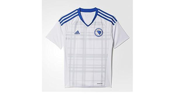 1cad8fc4e adidas Boy's Replica Football Jersey Bosnia and Herzegovina Away Shirt  Replica: Amazon.co.uk: Sports & Outdoors
