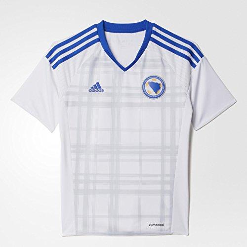 adidas Jungen Trikot Bosnien Herzegowina Auswärtstrikot Replica, White/Boblue, 140, AC6611