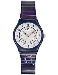 Lulu Castagnette - 38795 - Montre Fille - Quartz Analogique - Cadran Argent - Bracelet Plastique Multicolore