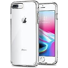 Spigen iPhone 8/7Plus Ultra Hybrid 2, Funda con tecnología de amortiguación de aire y protección híbrida contra caídas, transparente