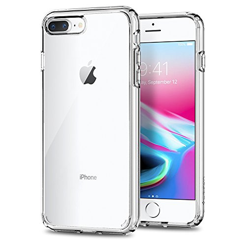 Spigen 043CS21052 Ultra Hybrid 2 Kompatibel mit iPhone 8 Plus/7 Plus Hülle. Einteilige Durchsichtige Case Crystal Clear