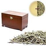 Origin Ceylon Tea 100g (150 Tassen) Bester Weißer Tee - Silver Tips direkt von der Plantage aus Sri Lanka in Mahagoni Holz Box