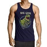 lepni.me Camisetas de Tirantes para Hombre Entrena Duro - Fitness, Levantamiento de Pesas, Entrenamiento, Amantes de Sentadillas (X-Large Azul Multicolor)