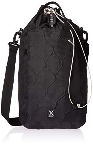 Pacsafe Travelsafe X15 - Mobiler Safe mit TSA-Zahlen Schloß, Trage-Tasche mit Anti-Diebstahl Technologie, 25 Liter, Schwarz/Bl...