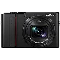 Panasonic LUMIX DC-TZ202EG-K Premium Travelzoom Kamera (1-Zoll Sensor, 15x opt. Zoom, Leica Objektiv, Sucher, 4K), schwarz
