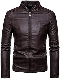 96d7f5de420b Blouson Homme Hiver Mode Hommes Automne Hiver Cuir Casual Chaud à Capuche  Veste Manteau Haut à