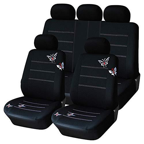 Coprisedili universali per auto lavabile Airbag compatibile Accessori interni per auto compatibili Solo per poggiatesta staccabile, nero