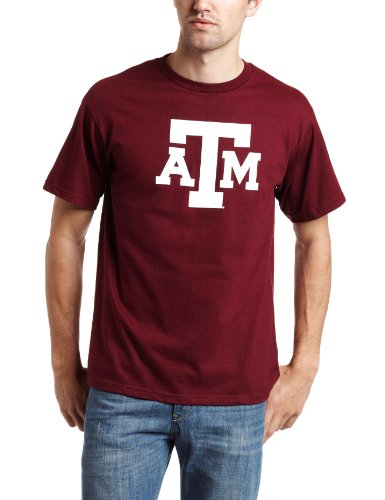 Majestic NCAA Herren Fußball Icon Short Sleeve Tee, Herren, Texas A&M Aggies -