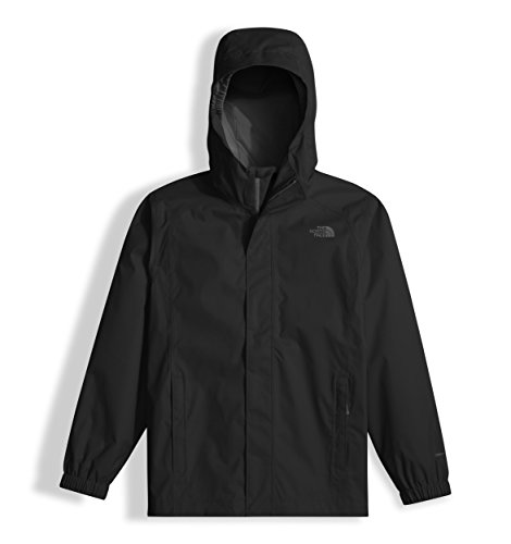 The North Face Waterproof Reflective Resolve Boy's Outdoor Jacket, Black (TNF Black), Large