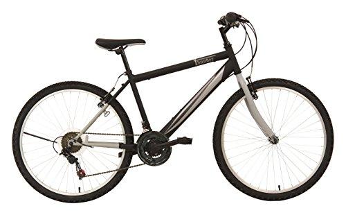 F.lli Schiano Thunder - Bicicleta de montaña para hombre, 18 velocidades, color negro/gris, cambio Shimano, rueda 26''