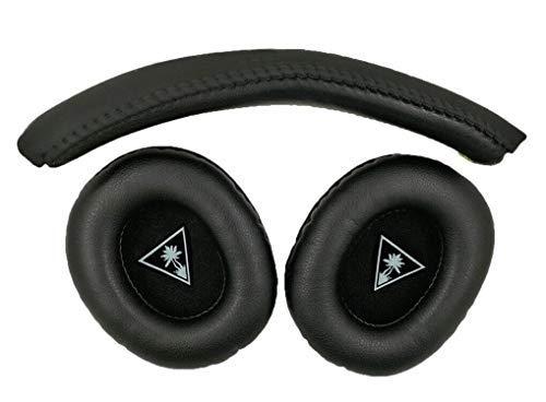 Fascia di fascia per testina sostitutiva compatibile con Turtle Beach - Ear Force XO Seven XO 7 Cuffie da gioco Premium XO7 Pro - Xbox One (Ear Force XO 7 Fascia per capelli + padiglione auricolare)