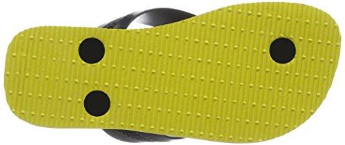 Havaianas Max Herois, Sandales Plateforme garçon Multicolore (black/citrus Yellow 3641)