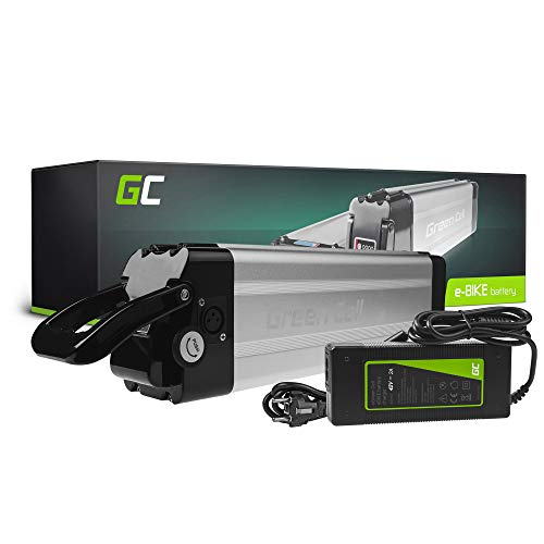 GC® Batería E-Bike 36V 11.6Ah Bicicleta Eléctrica Silverfish Li-Ion con Celdas Panasonic y Cargador...