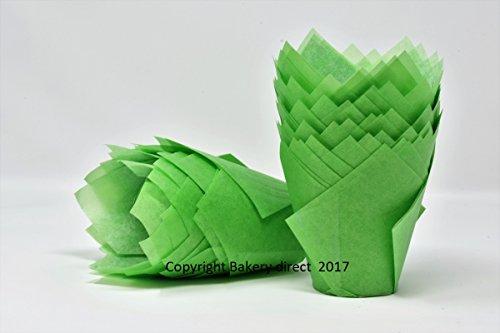 200Stück grüner Muffin Verpackungen/Wraps von Bakery direct