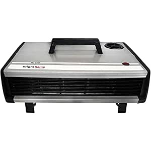 BrightFlame HC-0027 Heat Convector 1000 W- 2000 W (Silver)
