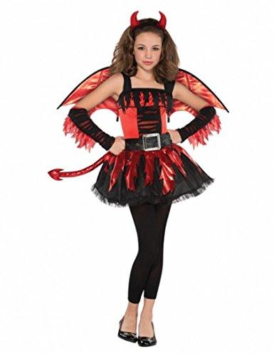 evil' Kostüm' - Mädchen im Alter von 12-14 - Amscan (Teen Halloween Kostüme Für Mädchen)