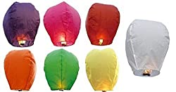 Amit Marketing Full Size Sky Lanterns/Paper Whish Lamp Multicolored Pack Of 10pic