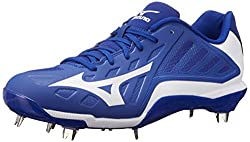 Mizuno Mens Heist IQ Baseball Cleat Royal / White 9 D(M) US