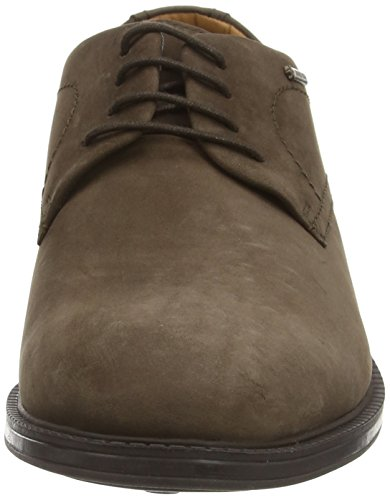 Clarks Chilver Walk GTX, Chaussures de Ville Homme Marron (Dark Brown Nub)