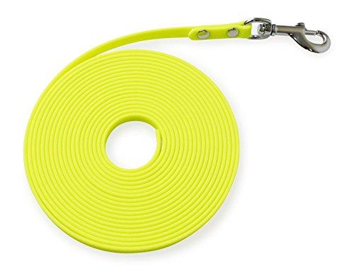 Biothane Schleppleine 9mm, 13mm, 16mm & 19mm breit; 5m & 10m lang; in 12 Farben 13mm breit - 5m lang neongelb