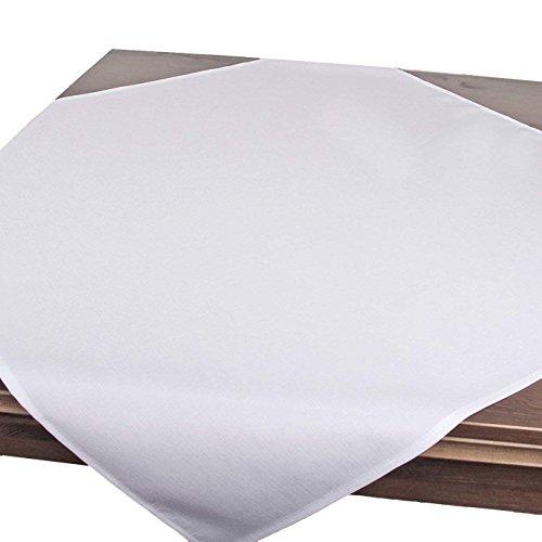 Tischdecke Wien, weiß, 85x85 cm, Fleckschutz, Mitteldecke für das ganze Jahr - Leinen Weiße Tischdecke Quadratische