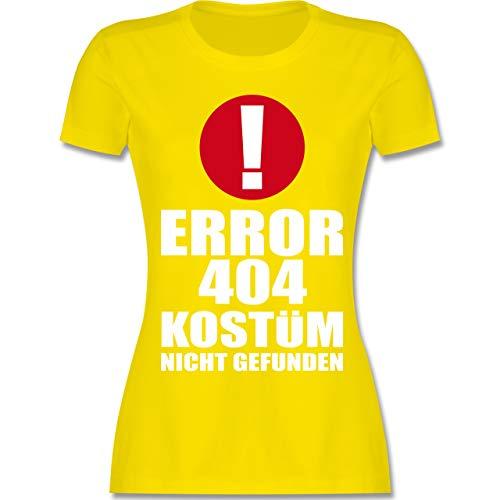 Karneval & Fasching - Error 404 Kostüm Nicht gefunden - XL - Lemon Gelb - L191 - Damen T-Shirt Rundhals