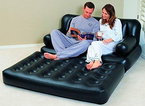 Sky Black 5 in 1 Inflatable Sofa Air Bed Couch with Free Electric Pump Bestway Image 5