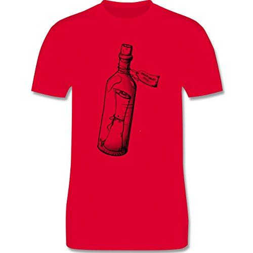 Statement Shirts - Geschenk Flaschenpost - Herren Premium T-Shirt Rot