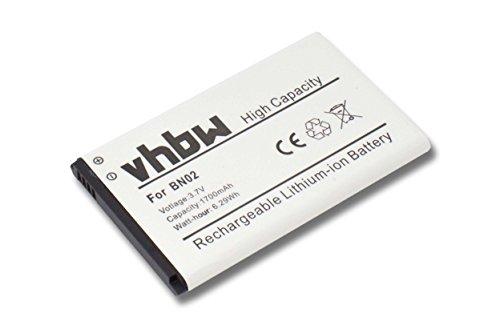 Batterie vhbw 1650mAh (3.7V) pour téléphone portable, Smartphone Nokia XL, XL Dual Sim, RM-1030, RM-1042. Remplace batterie d'origine : BN-02.