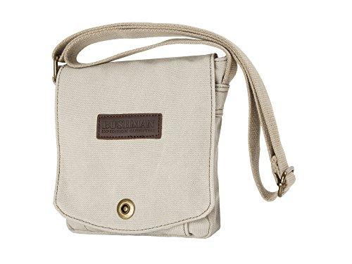 BUSHMAN Outdoor Freizeit Tasche Umhänge-Tasche TEMPE Safari-Tasche aus 100% Baumwolle in Khaki oder Beige Beige