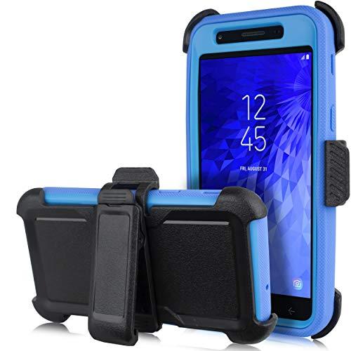 Schutzhülle für Samsung Galaxy J7 2018, J7 Refine, Crown, Aura, Aero, Eon, J7 Top (SM- J737), blau Silicon Case Screen Guard