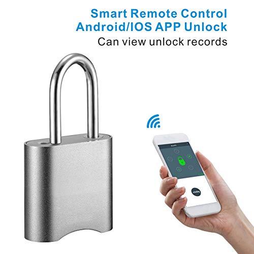 Candado inteligente sin llave, combinación impermeable, candado inteligente con Bluetooth y contraseña...