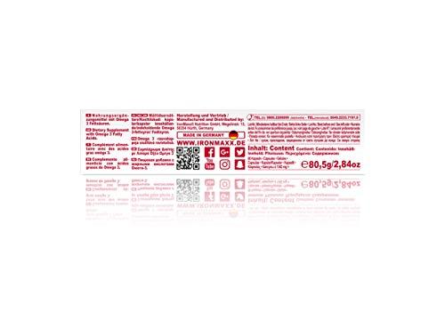 IronMaxx Platinum Omega 3 Kapseln – 1000mg Omega 3 Fischöl-Kapseln, hochdosiert – 1 x 60 Kapseln - 6