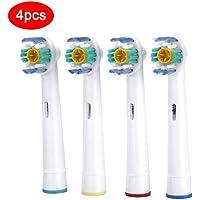 4pcs Brosse à dents électrique Têtes de remplacement pour Oral B à poils doux Vitality Dual Clean Professional...
