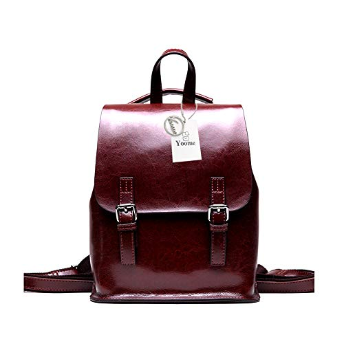 075fc7c699a9 Yoome Vintage Oil-Wax Leather Backpack Monedero multifunción para Mujeres  Bolso de Escuela para niñas