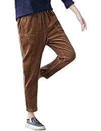 LXIANGP Pantalones Harem de Nueve Puntos de Las Mujeres Primavera y otoño e  Invierno Cintura Alta a3fee82de6d