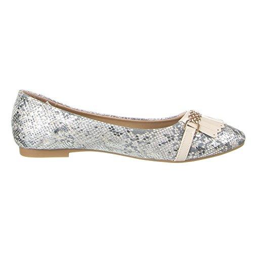 Damen Schuhe, A-105, BALLERINAS Creme