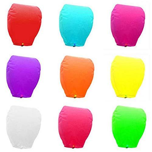 AREA Sky farolillos Chinos voladores de Colores, Mixtos