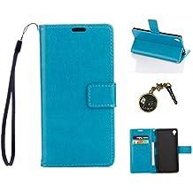 PU Cuir Coque Strass Case Etui Coque étui de portefeuille protection Coque Case Cas Cuir Swag Pour Sony Xperia Z3 +Bouchons de poussière (5DD)
