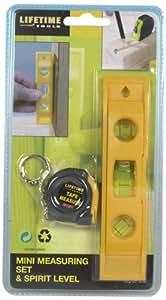 Lifetime Tools 41121 Mini Mètre enrouleur et mini niveau à bulles