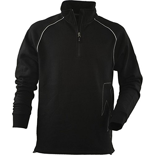 JOB Dachdecker-Sweatshirt Sweat schwarz mit Zunft-Logo (XXXL) (Reißverschluss-job Shirt)