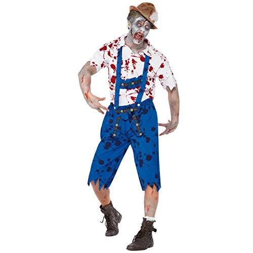 Farmer Kostüm Zombie - JH&MM Halloween Kostüm Mann Bauer Zombie Adult Rollenspiel Maskerade Performance Pack,XL