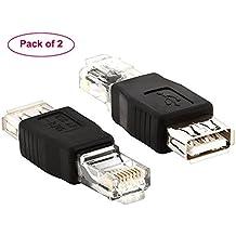 af-rj45adaptador, maxhood USB 2.0macho a Lan RJ458P8C hembra Crystal 10MB/100Mb, adaptador de red Ethernet