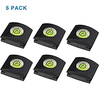 LXH 6 Pcs Camera Flashlight Hot Shoe Cover with Bubble Spirit Level For Sony A6500 A6300 A6000 Canon Nikon Panasonic Fujifilm Olympus Pentax Sigma DSLR/SLR/EVIL Camera Soft Rubber -Pack of 6
