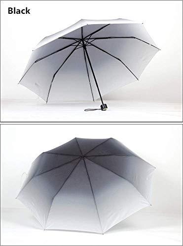 andy Color Neuheit Kreative Trendwechsel Farbverlauf Regenschirm Taschenschirm UV-Regenschirm für Männer und Frauen, D ()