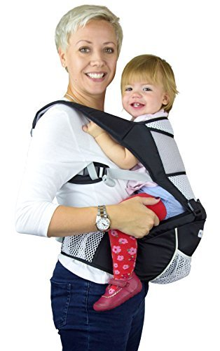 Baby Carrier Hip Seat Sling by NimNik Best Safe Backpack Carriers Back Pain Support (Pearl Black) NimNik ★ NO MORE BACK AND SHOULDER PAIN - NimNik offers an innovation in baby carrying fashion and quality for girls and boys! This Soft Structured Baby Carrier is not only versatile with four different carry positions, but perfectly comfortable for both you and your little one. That twined with unmatched durability makes NimNik Baby Carriers a popular choice in ergonomic baby carriers! ★ DESIGNED FOR STYLE AND COMFORT - With superior padding in our adjustable EXTRA LONG WAIST STRAPS (50 inches / 125 cms) and ergonomic lumbar support for you, say goodbye to backpain and other back, hip and shoulder related carrying issues. With the extremely ergonomic hip seat, you can rest assured that your little one is sitting pretty in style and comfort no matter how you carry! ★ PREMIUM COTTON FOR SOFT AND COSY FEELING - From front facing out and facing in, to hip, to back carry, you'll be comfortable, and so will children. Not every baby likes to be carried the same way, from 6 months and up. Our baby carrier comes with a wide range of comfortable carry positions to use as best suits the both of you, without the back pain after maternity. 9